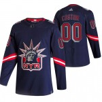 Men's New York Rangers Custom Navy 2020-21 Reverse Retro Adidas Player NHL jersey (Name and number remark in comment column)