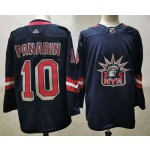 New York Rangers #10 Artemi Panarin Navy Men's Adidas 2020-21 Reverse Retro Alternate NHL Jersey