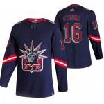 New York Rangers #16 Ryan Strome Navy Men's Adidas 2020-21 Reverse Retro Alternate NHL Jersey