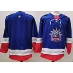 New York Rangers Blank Blue Men's Adidas 2020-21 Reverse Retro Alternate NHL Jersey