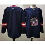 New York Rangers Blank Navy Men's Adidas 2020-21 Reverse Retro Alternate NHL Jersey