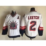 Men's New York Rangers #2 Brian Leetch 1996-97 White CCM Throwback Jersey