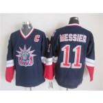 Men's New York Rangers #11 Mark Messier Navy Blue Throwback CCM Jersey