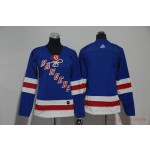 Women New York Rangers Blank Blue Adidas Jersey