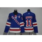 Women New York Rangers #11 Mark Messier Blue Adidas Jersey