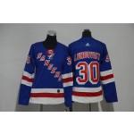 Women New York Rangers #30 Henrik Lundqvist Blue Adidas Jersey