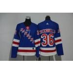 Women New York Rangers #36 Mats Zuccarello Blue Adidas Jersey