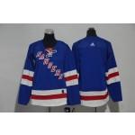Youth New York Rangers Blank Blue Adidas Jersey
