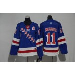 Youth New York Rangers #11 Mark Messier Blue Adidas Jersey