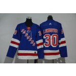 Youth New York Rangers #30 Henrik Lundqvist Blue Adidas Jersey