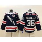 Youth New York Rangers #36 Mats Zuccarello Navy blue 2018 Winter Classic Jersey