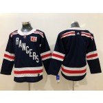 Youth New York Rangers Blank Navy blue 2018 Winter Classic Jersey
