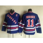 Youth New York Rangers #11 Mark Messier Blue Throwback CCM Jersey