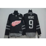 NHL Detroit Red Wings #9 Gordie Howe Black 100th Centennial Classic Jersey