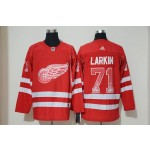 NHL Detroit Red Wings #71 Dylan Larkin Red Drift Fashion Adidas Jersey