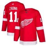 NHL Detroit Red Wings #11 Filip Zadina Red Adidas Jersey