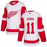 NHL Detroit Red Wings #11 Filip Zadina White Adidas Jersey