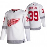 Detroit Red Wings #39 Anthony Mantha White Men's Adidas 2020-21 Reverse Retro Alternate NHL Jersey