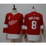 Women Detroit Red Wings #8 Justin Abdelkader Red Adidas Jersey