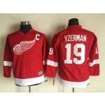 Youth Red Wings #19 Steve Yzerman Red Throwback CCM Jersey