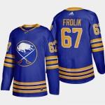 Men's Buffalo Sabres #67 Michael Frolik Royal Blue Adidas 2020-21 Player Home NHL jersey