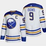 Men's Buffalo Sabres #9 Jack Eichel White Adidas 2020-21 Player Home NHL jersey