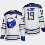 Men's Buffalo Sabres #19 Jake McCabe White Adidas 2020-21 Player Home NHL jersey