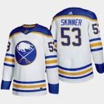 Men's Buffalo Sabres #53 Jeff Skinner White Adidas 2020-21 Player Home NHL jersey