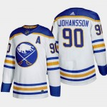 Men's Buffalo Sabres #90 Marcus Johansson White Adidas 2020-21 Player Home NHL jersey