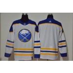 Men's Buffalo Sabres Blank White 2021 Reverse Retro Jersey Adidas jersey
