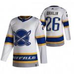Buffalo Sabres #26 Rasmus Dahlin White Men's Adidas 2020-21 Reverse Retro Alternate NHL Jersey