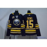 Youth Buffalo Sabres #15 Jack Eichel Navy blue Adidas Jersey