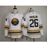 Youth Buffalo Sabres #26 Rasmus Dahlin White 50th Anniversary Gold Edition Adidas Jersey