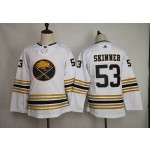 Youth Buffalo Sabres #53 Jeff Skinner White 50th Anniversary Gold Edition Adidas Jersey