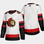 Men's Ottawa Senators White Adidas 2020-21 Player Away New 2D Jersey