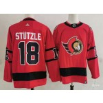 Men's Ottawa Senators #18 Tim Stützle Red Adidas 2020-21 Player Away New 2D Jersey