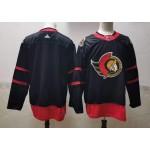 Men's Ottawa Senators Blank Black Adidas 2020-21 Reverse Retro Alternate NHL Jersey