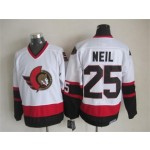 Men's Ottawa Senators #25 Chris Neil White Throwback CCM Jersey