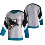 San Jose Sharks Blank Grey Men's Adidas 2020-21 Reverse Retro Alternate NHL Jersey