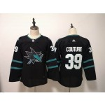 Women San Jose Sharks #39 Logan Couture Black Adidas Jersey