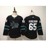 Women San Jose Sharks #65 Erik Karlsson Black Adidas Jersey