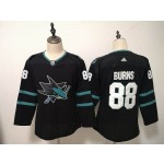 Women San Jose Sharks #88 Brent Burns Black Adidas Jersey
