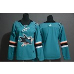 Women San Jose Sharks Blank Green Adidas Jersey