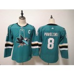 Women San Jose Sharks #8 Joe Pavelski Green Adidas Jersey