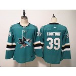 Women San Jose Sharks #39 Logan Couture Green Adidas Jersey