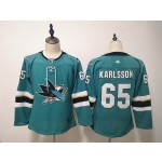 Women San Jose Sharks #65 Erik Karlsson Green Adidas Jersey