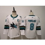Women San Jose Sharks #8 Joe Pavelski White Adidas Jersey