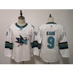 Women San Jose Sharks #9 Evander Kane White Adidas Jersey