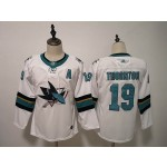 Women San Jose Sharks #19 Joe Thornton White Adidas Jersey