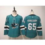 Youth San Jose Sharks #65 Erik Karlsson Green Adidas Jersey
